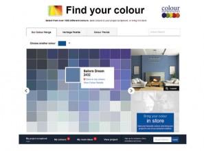 Interactive paint website