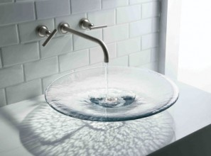 Glass-style for bathrooms