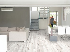 Cork plank floors