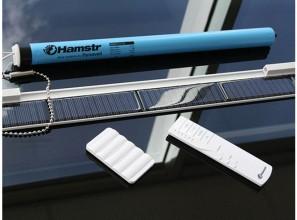 Solar powered roller blinds