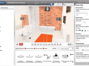Online DIY 3D bathroom design