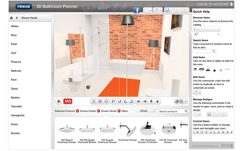 Reece Online Diy Bathroom Design Tool Bathroom Design