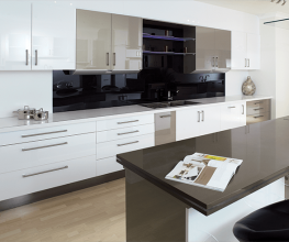 Super gloss panel for kitchens and bathrooms