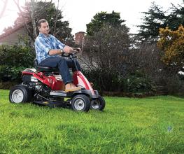 Mini ride-on lawnmower