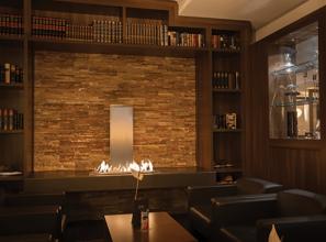 Custom-made biofuel-burning fireplace