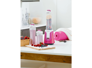 Pink benchtop appliances