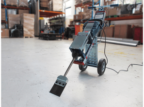Jackhammer trolley for floor-renovations