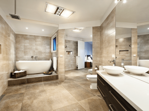 Energy-saving LEDs for bathroom lighting