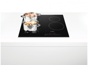 Induction cooktops with flexible zones
