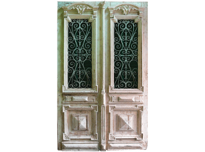 Reproduction unique French doors
