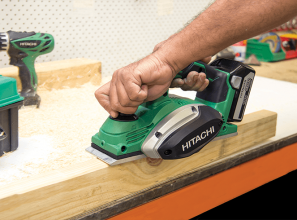 Commercial cordless wood-planer for Tradies