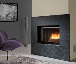 Open-door, deluxe wood-burning fireplaces