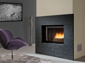 Open-door, deluxe wood-burning fireplaces