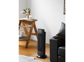 Two compact portable electric room-heaters