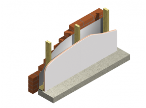 Combined plasterboard and insulation