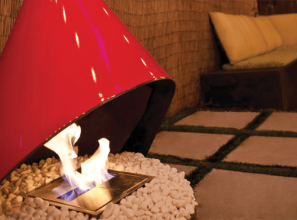 A 1960s vintage conical fireplace conversion