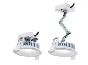 Safe LED down-lighting installation