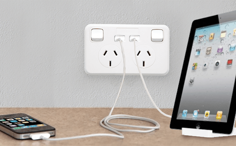 Double Power Point With Usb Charger In Wall Usb Charger