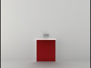 Coloured washbasins to brighten white bathrooms