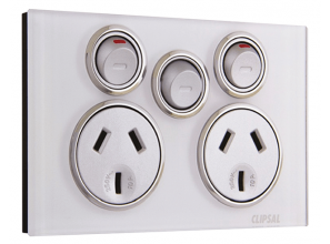 Electric socket with extra switch for another circuit