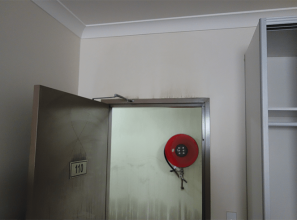 Plasterboard that stands up to flames