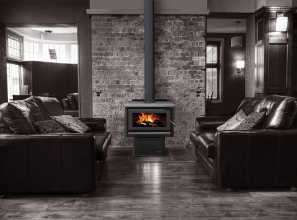 Large capacity free-standing wood-burning heaters