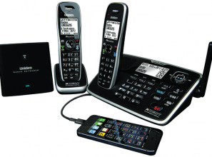 A cordless phone that takes your mobile phone calls
