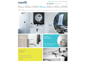 Updated Caroma website offers bathroom ideas