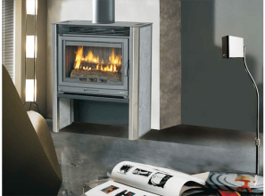 A free-standing budget-priced wood heater from France