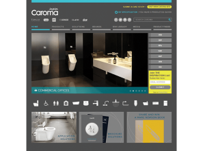 Caroma's new website for industry professionals