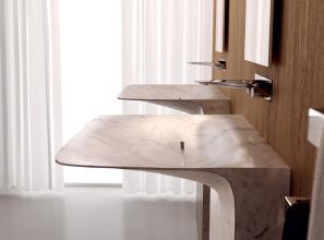 Marble pedestal washbasin