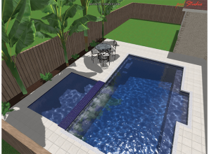Swimming pools for narrow and small blocks