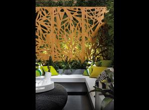 Decorative weather-resistant Laminex screens