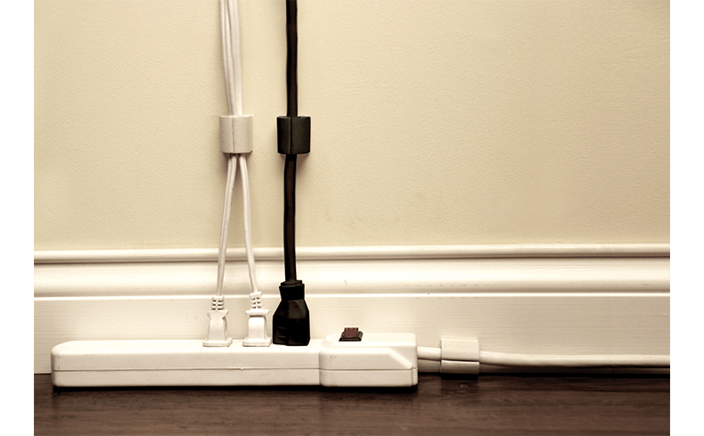 An Easy Way To Keep Power Cords Off The Floor D Wings
