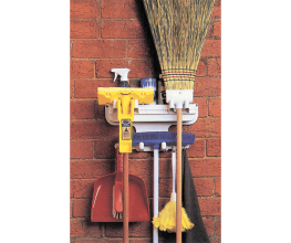 Keep bits and pieces tidy in the broom cupboard