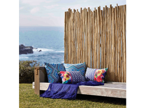 Timber pole screens for decorating and privacy
