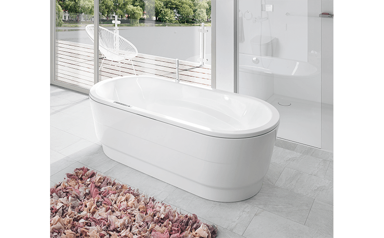 modern bathroom renovation with free standing kaldewei baths. Black Bedroom Furniture Sets. Home Design Ideas