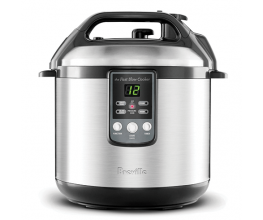 A combination pressure-cooker and slow-cooker
