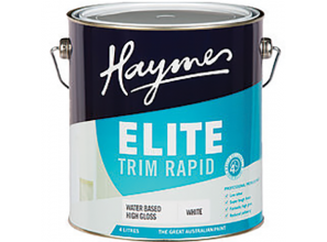 A water-based, quick-dry enamel paint