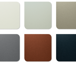 Metal building panels in COLORBOND colours