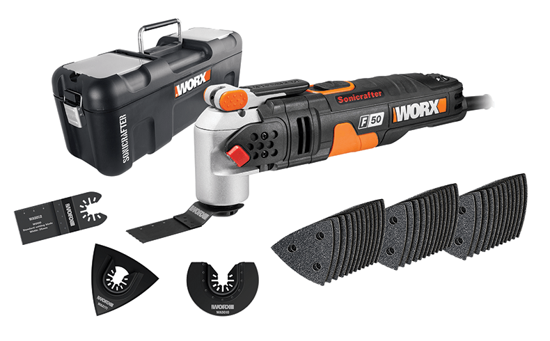 Worx Sonicrafter 450 Watt Multitool With Accessories