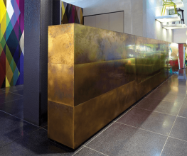Sheet metal from Axolotl for designer kitchens and bathrooms
