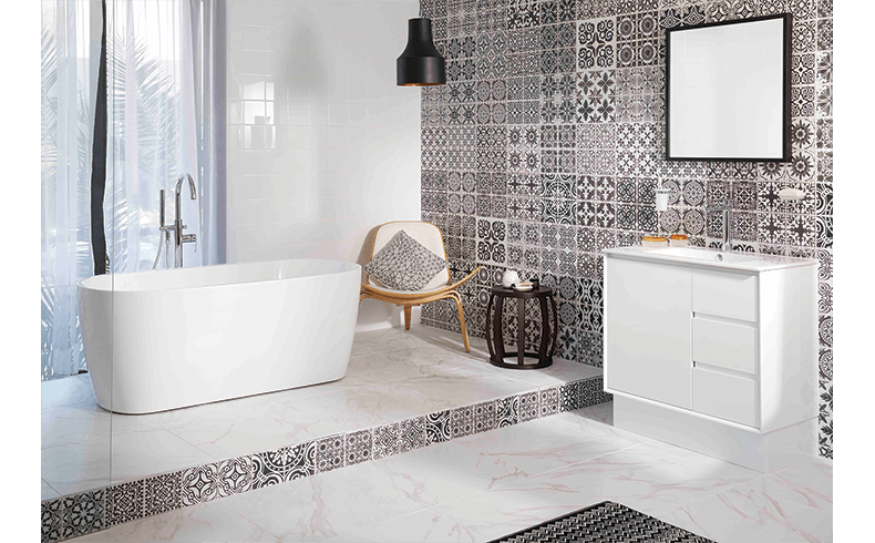 Renovating A Bathroom With A Black And White Theme