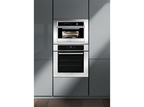 76cm wide built-in electric oven with 123-litre oven cavity
