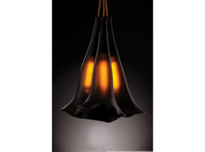 Stunning pendant lights created from recycled bottles