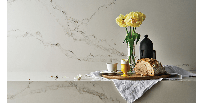 Marble-look benchtops from Caesarstone for an elegant kitchen
