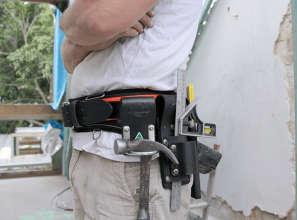 Tool belt with back-support, made in Australia