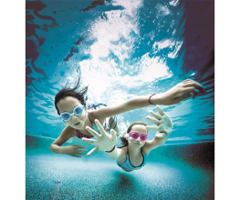 Pool in-floor cleaning system that saves time, lowers energy-use and maintenance costs