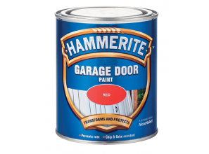 Repainting a weathered timber or metal garage door