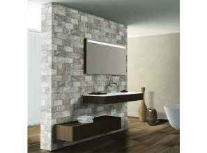 Italian-made tiles with the on-trend glazed-brick look